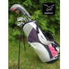 AGXGOLF GIRL'S EDITION AVT PINK GOLF CLUB SET w460 DRIVER, HYBRID, STAND BAG & FREE PUTTER: TWEEN, TEEN or TALL